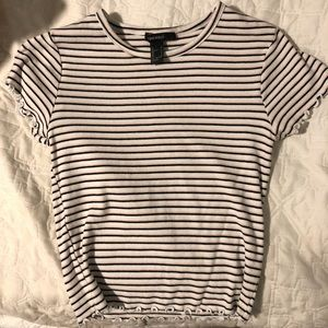 Forever 21 striped cropped t-shirt